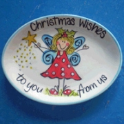 Handpainted Plate - Christmas Fairy